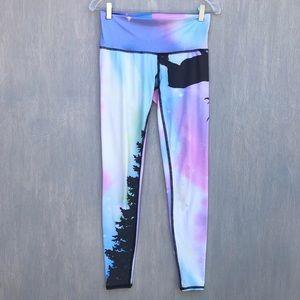 Teeki pastel galaxy deer forest print leggings M